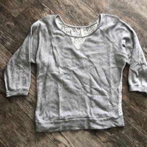 Xhiliration 3/4 sleeve sweatshirt